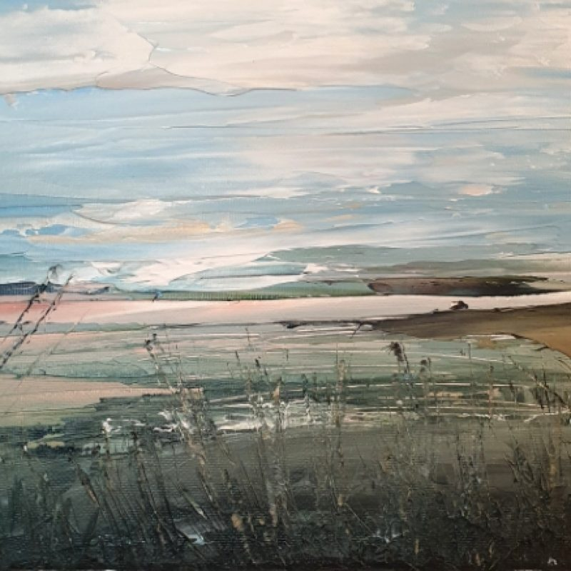 Abstract landscape. Inspired by a pond on the South Downs