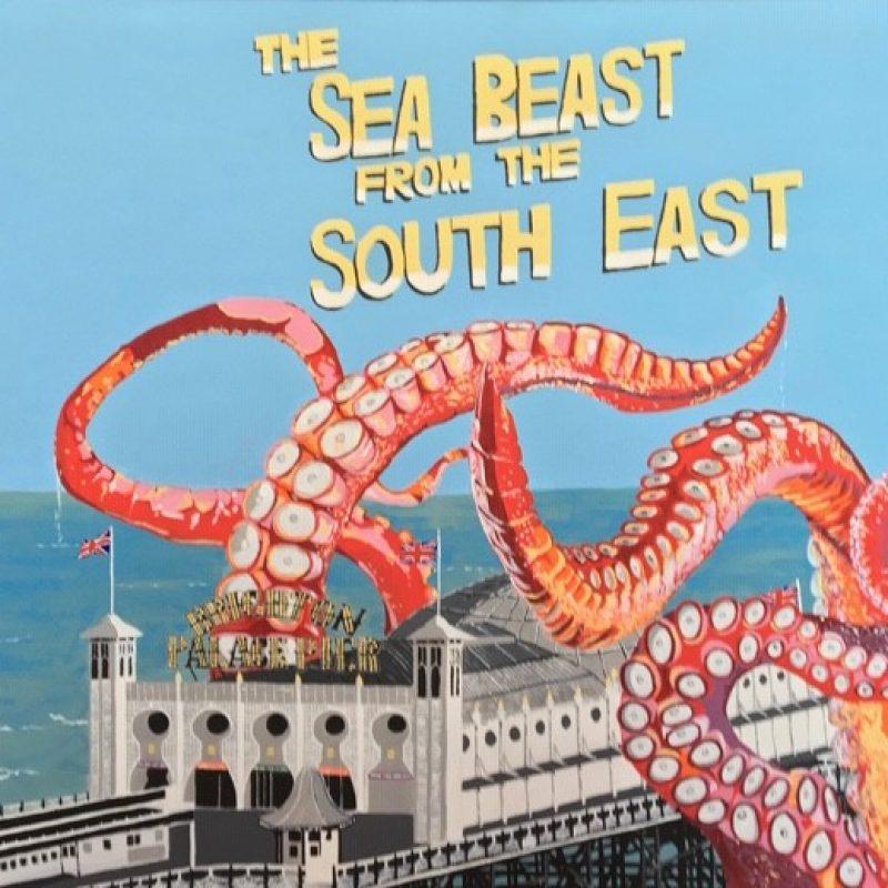 Octopus tentacles around Brighton Palace Pier