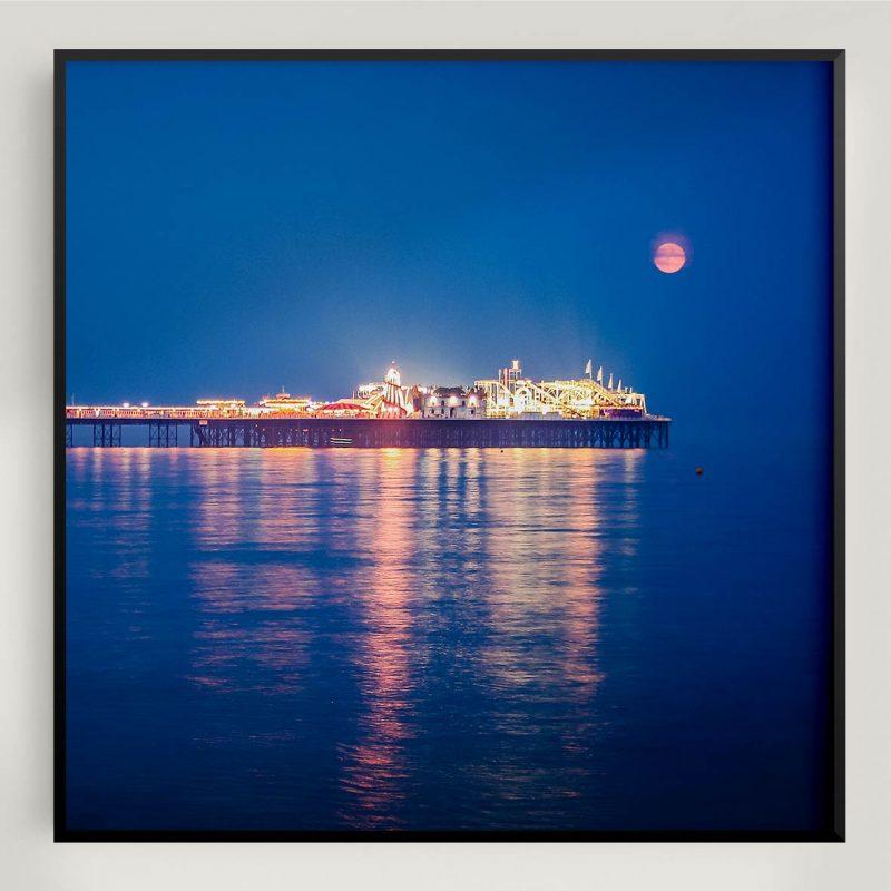 Photograph of Brighton's Palace Pier at night