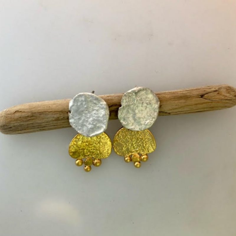 silver and gold earings