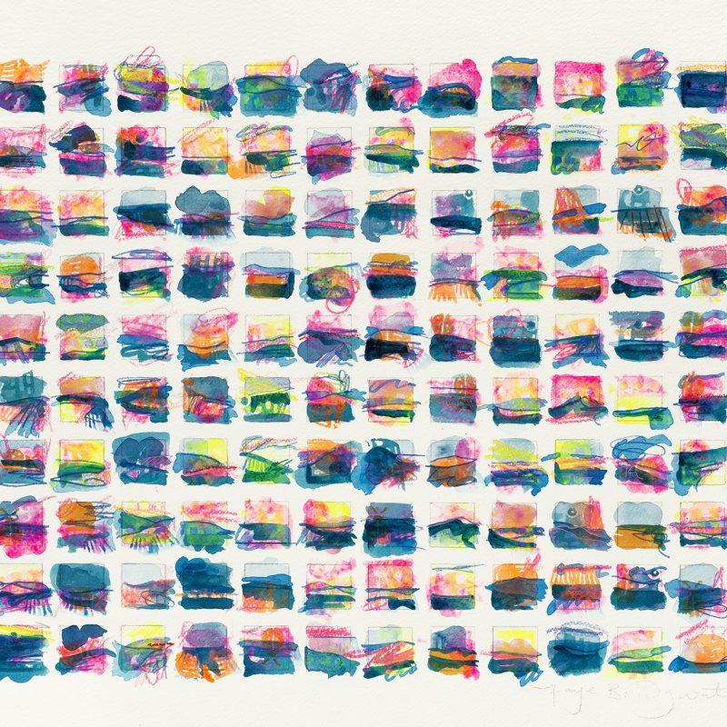 140 miniature flourescent landscapes of our beloved Brighton. A gallery quality giclee limited edition print on 100% cotton rag paper, with archival inks and a hand torn edge. It is signed, titled and numbered.
