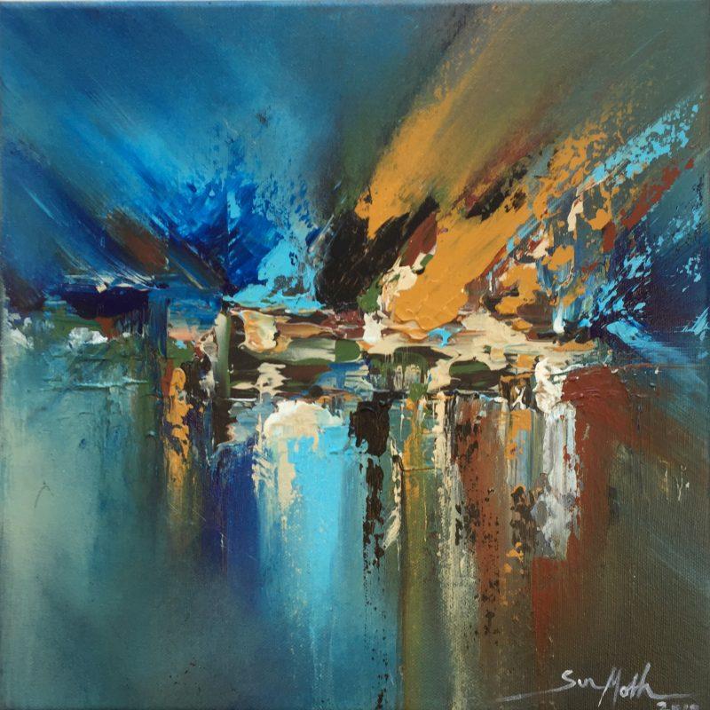 Abstract artwork, colours, bright, vibrant, movement