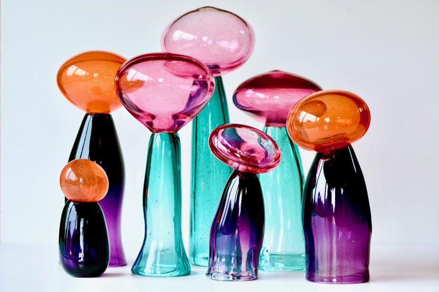 Handblown glass sculptures