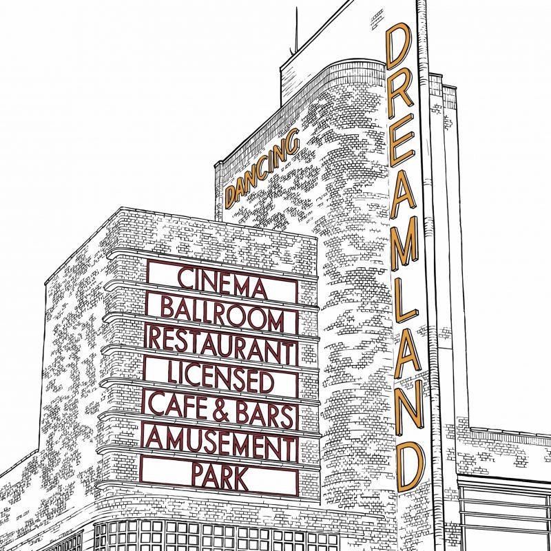 Graphic illustration of Dreamland, Margate