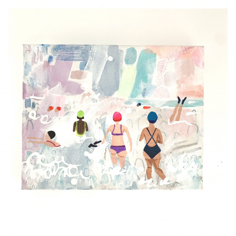 Sea fog swimmers