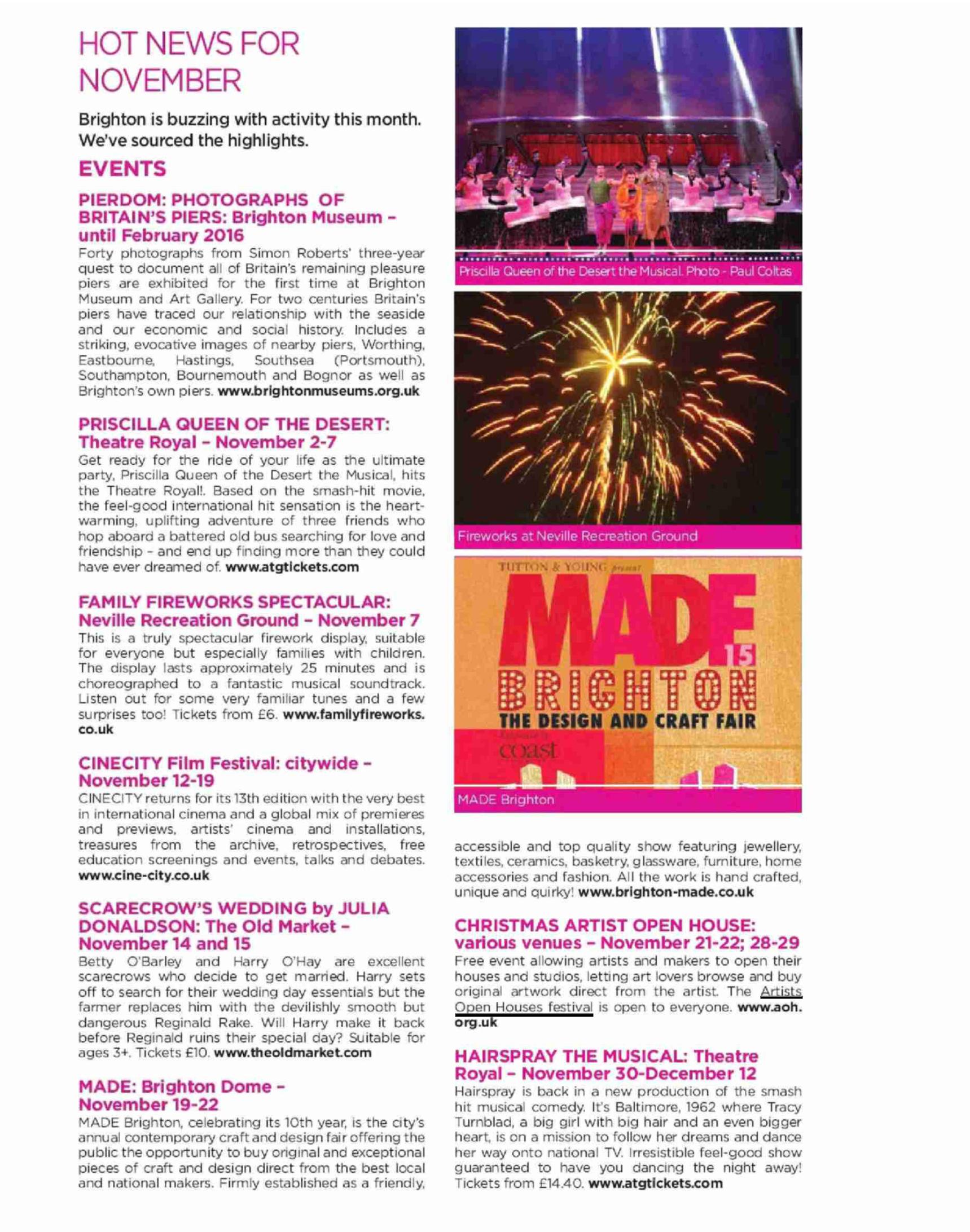 Hot News For November - London Visitors Magazine   Artists Open Houses